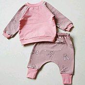Работы для детей, ручной работы. Ярмарка Мастеров - ручная работа Костюм для девочки. Свитшот и штанишки. Handmade.