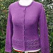 Одежда handmade. Livemaster - original item Blueberry cotton jacket buttoned.. Handmade.