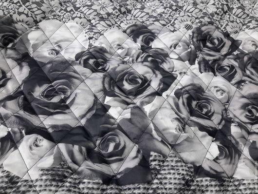 Шитье ручной работы. Ярмарка Мастеров - ручная работа. Купить Красивая стеганная ткань пр-ва Италии с белыми и черными розами. Handmade.