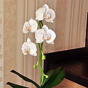 Цветы и флористика ручной работы. Ярмарка Мастеров - ручная работа Орхидея фаленопсис белая. Handmade.