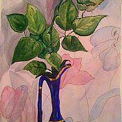 """Картины и панно ручной работы. Ярмарка Мастеров - ручная работа Акварель """"Роза Азора"""". Handmade."""