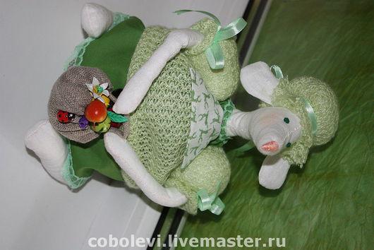 Игрушки животные, ручной работы. Ярмарка Мастеров - ручная работа. Купить мышаня. Handmade. Хлопок, лён, холлофайбер