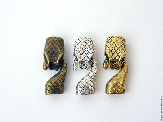 Для украшений ручной работы. Ярмарка Мастеров - ручная работа. Купить Колпачки змея замок жгут регализ золото серебро бронза. Handmade.