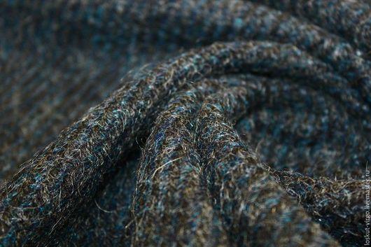 Шитье ручной работы. Ярмарка Мастеров - ручная работа. Купить Пальтовая ткань(шерсть 70%,пэ 30%),цвет темно-серый +морская волна. Handmade.