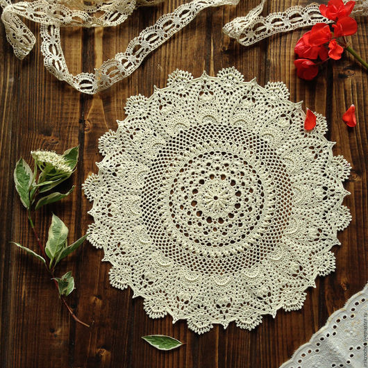Текстиль, ковры ручной работы. Ярмарка Мастеров - ручная работа. Купить Салфетка крючком (2). Handmade. Салфетка крючком, подарок