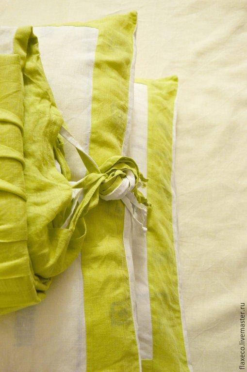 Текстиль, ковры ручной работы. Ярмарка Мастеров - ручная работа. Купить Постельное белье лен «Утренняя нега».. Handmade. разноцветный