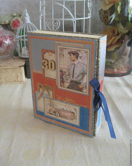 Открытки для мужчин, ручной работы. Ярмарка Мастеров - ручная работа. Купить Открытка-бокс для мужчины (card box). Handmade.