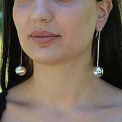 Украшения handmade. Livemaster - original item Silver Ball Earrings #5 Made of 925 Sterling Silver AN0016-1. Handmade.
