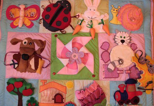 Развивающие игрушки ручной работы. Ярмарка Мастеров - ручная работа. Купить Развивающий коврик  шнуровка книжка. Handmade. Развивающие игрушки