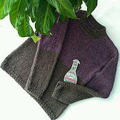 Работы для детей, handmade. Livemaster - original item Knitted Italian Alpaca jumper with silk for boy p. .116. Handmade.
