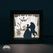 """Ночники ручной работы. Ярмарка Мастеров - ручная работа Ночник светодиодный """"Красавица и чудовище"""". Handmade."""