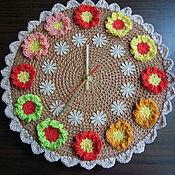 Для дома и интерьера ручной работы. Ярмарка Мастеров - ручная работа Часы цветочные. Handmade.
