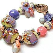 Украшения handmade. Livemaster - original item Bracelet with Lilac pearl. Handmade.