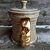 Посуда handmade. Livemaster - original item Teapot with gold handle. Handmade.
