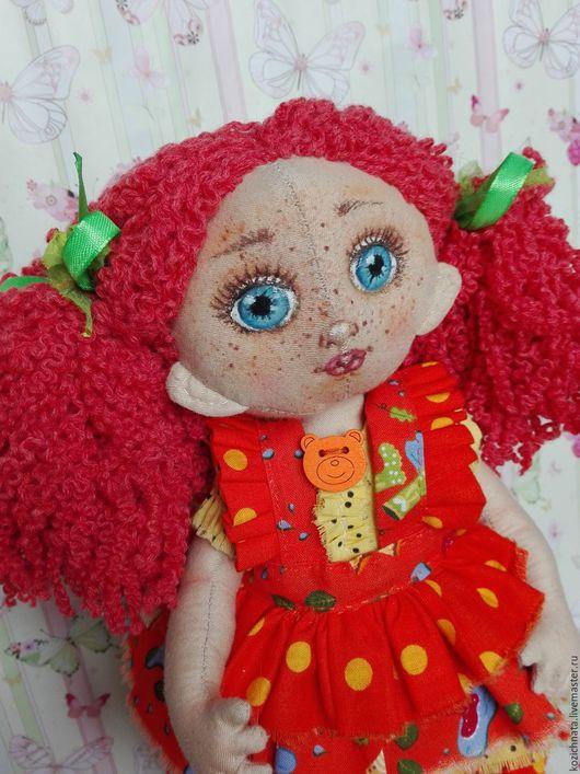 Коллекционные куклы ручной работы. Ярмарка Мастеров - ручная работа. Купить Текстильная кукла. Рыжая озорница с котом. Handmade. Рыжий