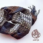 handmade. Livemaster - original item Scarf Diamond pattern hand weaving. Handmade.