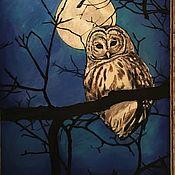 """Картины и панно ручной работы. Ярмарка Мастеров - ручная работа """"Ночь.Сова."""". Handmade."""