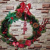 Подарки к праздникам ручной работы. Ярмарка Мастеров - ручная работа Рождественский венок. Handmade.