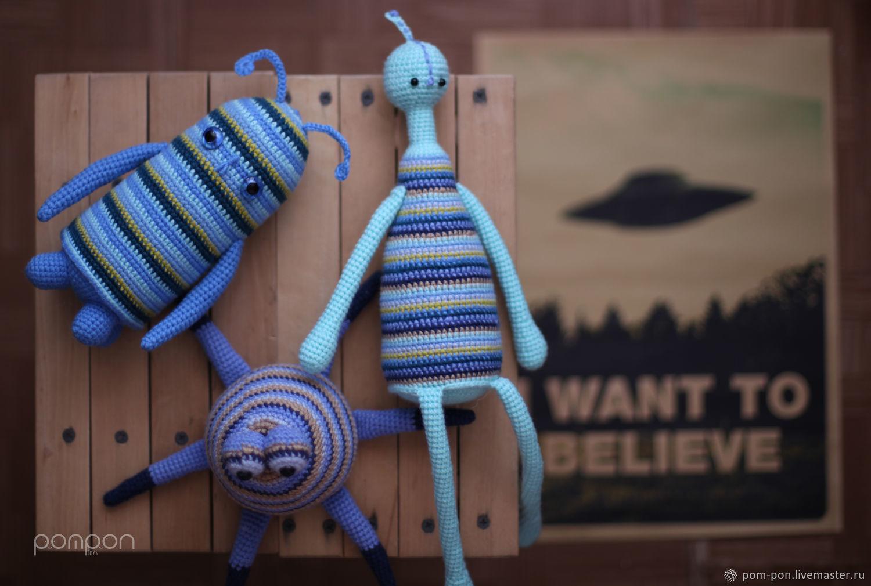 Crochet Amigurumi toys Aliens, Stuffed Toys, Volgograd,  Фото №1