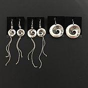 Украшения handmade. Livemaster - original item Earrings in the style of boho, ethnic. Unusual spiral Galaxy earrings. Handmade.