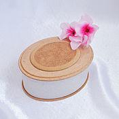 Материалы для творчества handmade. Livemaster - original item Oval MDV box with an overlay element. Handmade.