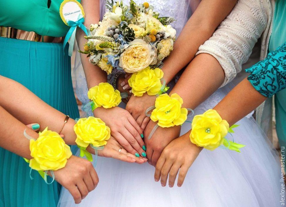 Подвязка на руку для подружек невесты своими руками