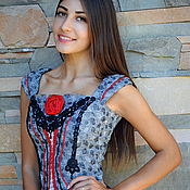 Одежда handmade. Livemaster - original item Original embroidered corset with lace