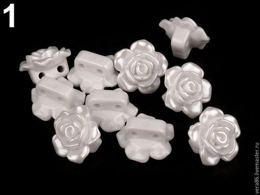 Шитье ручной работы. Ярмарка Мастеров - ручная работа. Купить Пуговица пластиковая Роза (6 цветов). Handmade. Пуговица