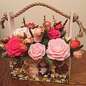 Косметика ручной работы. Ярмарка Мастеров - ручная работа Мыло цветочная композиция, любое сочетание цветов и цвета.. Handmade.
