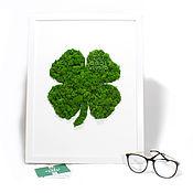 Картины и панно handmade. Livemaster - original item Moss Art-Clover. Handmade.