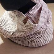 Аксессуары handmade. Livemaster - original item Snood beige, 100% Merino wool. Handmade.