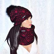 Аксессуары handmade. Livemaster - original item Set women`s winter