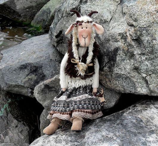 Куклы Тильды ручной работы. Ярмарка Мастеров - ручная работа. Купить Коза Скандинавия. Handmade. Разноцветный, одень, норвежский орнамент