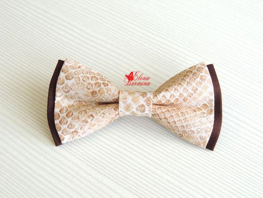 Галстуки, бабочки ручной работы. Ярмарка Мастеров - ручная работа. Купить Бабочка галстук со змеиным принтом, хлопок. Handmade.