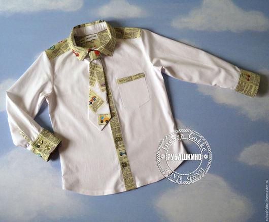 """Одежда для мальчиков, ручной работы. Ярмарка Мастеров - ручная работа. Купить Рубашка """"Утренняя"""". Handmade. Рубашка для мальчика, ручная работа"""