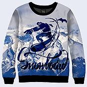 """Одежда ручной работы. Ярмарка Мастеров - ручная работа Свитшот """"Snowboard"""". Handmade."""