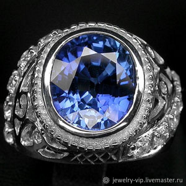 Солидный перстень-королевский бархатный сапфир, Перстень, Киев,  Фото №1