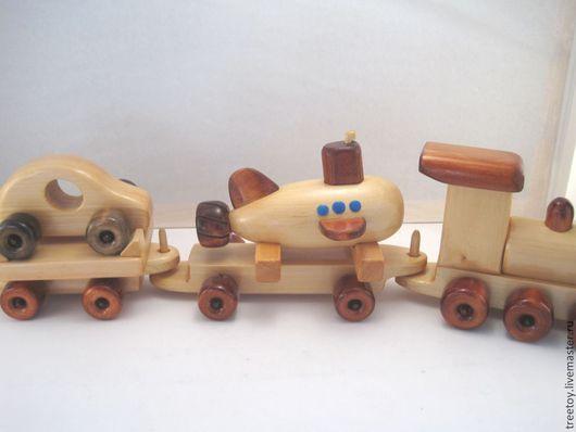 Техника ручной работы. Ярмарка Мастеров - ручная работа. Купить Вагон с подводной лодочкой. Handmade. Деревянная игрушка, подарок мальчику