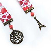Канцелярские товары handmade. Livemaster - original item Bookmark for the book Romance red color. Handmade.
