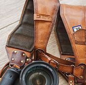 Аксессуары ручной работы. Ярмарка Мастеров - ручная работа Разгрузка (ремень) для двух фотоаппаратов.. Handmade.