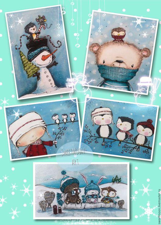 Набор текстильных купонов:`Winter Holidays`