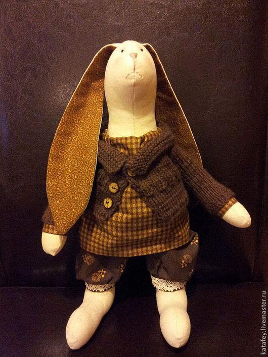 Куклы Тильды ручной работы. Ярмарка Мастеров - ручная работа. Купить Заяц Тарас. Handmade. Заяц текстильный, заяц тильда