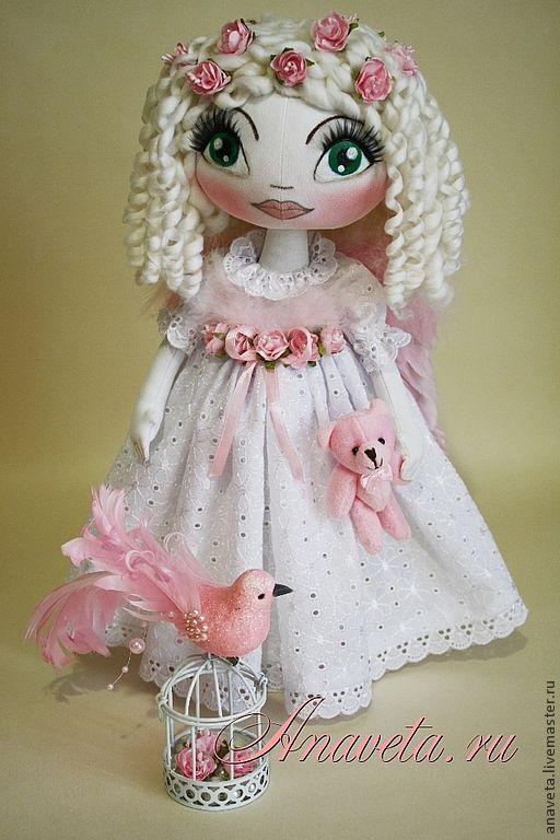 Коллекционные куклы ручной работы. Ярмарка Мастеров - ручная работа. Купить Ангелочек «Розовая мечта». Handmade. Бледно-розовый, шитьё