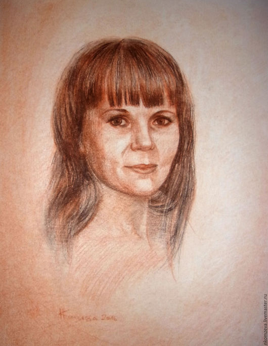 Портрет 30*40 см. Материал: сангина, сепия