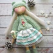 Куклы и игрушки ручной работы. Ярмарка Мастеров - ручная работа Кукла с медвежонком. Handmade.