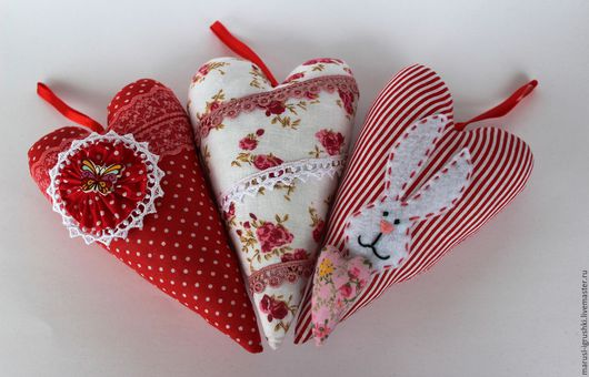 Подарки для влюбленных ручной работы. Ярмарка Мастеров - ручная работа. Купить Сердечки Тильда. Handmade. Комбинированный, сердце в подарок, холлофайбер