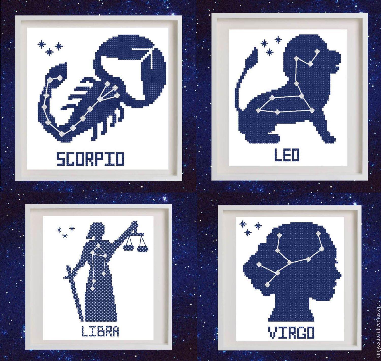 Бесплатно скачать схемы вышивки знаков зодиака