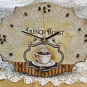 Для дома и интерьера ручной работы. Ярмарка Мастеров - ручная работа Часы кофейные. Handmade.