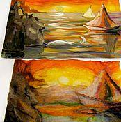 Картины и панно ручной работы. Ярмарка Мастеров - ручная работа Валянная картина. Handmade.