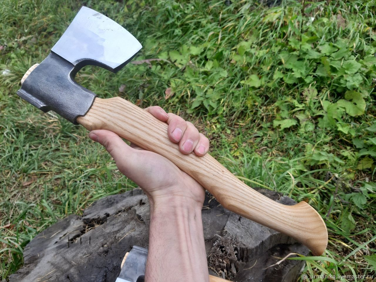 Forged axe ' Mini-fin', Gifts for hunters and fishers, Ekaterinburg,  Фото №1